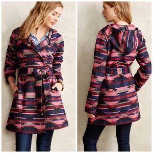 Anthropologie Tabitha Leona Aztec Wrap Coat